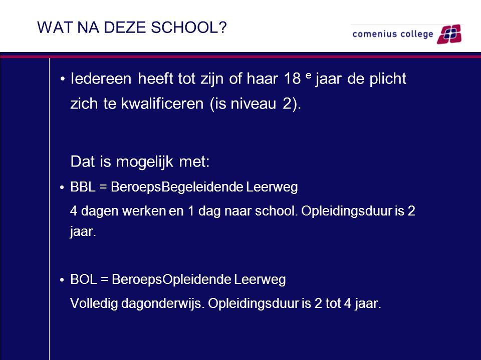 WAT NA DEZE SCHOOL.
