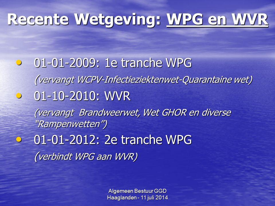 Algemeen Bestuur GGD Haaglanden - 11 juli 2014 2e tranche WPG (01-01-2012) 1.