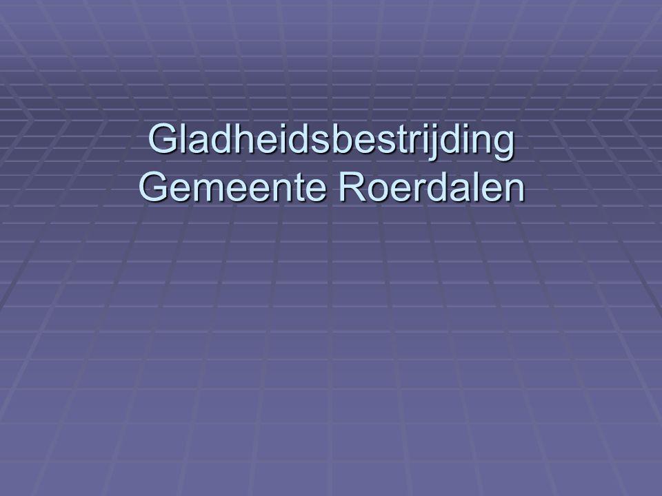 Gladheidsbestrijding Gemeente Roerdalen