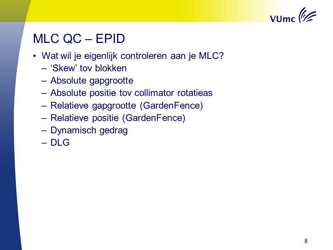 8 Wat wil je eigenlijk controleren aan je MLC.