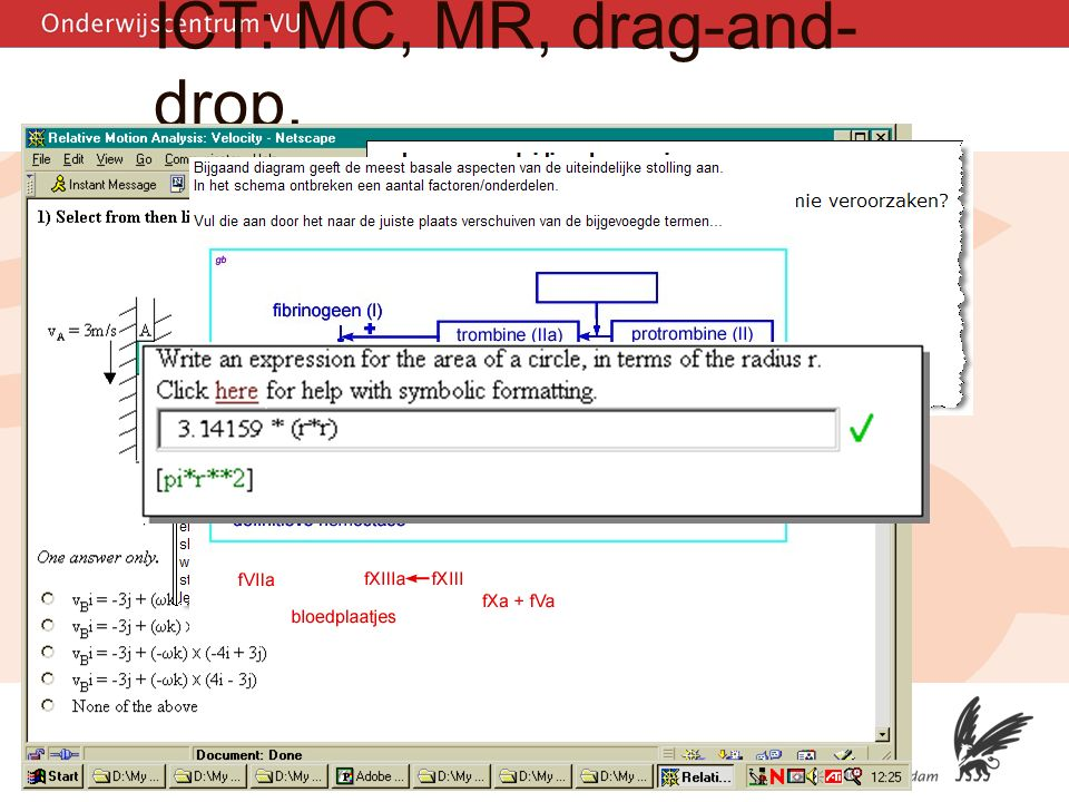 5 ICT: MC, MR, drag-and- drop, math