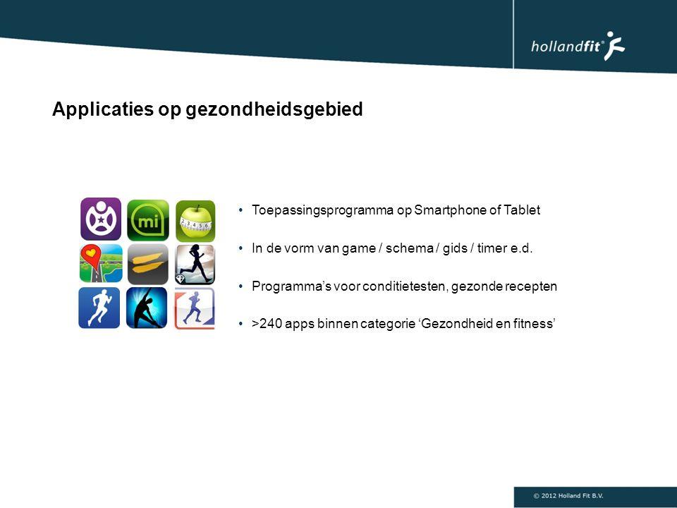 Toepassingsprogramma op Smartphone of Tablet In de vorm van game / schema / gids / timer e.d.