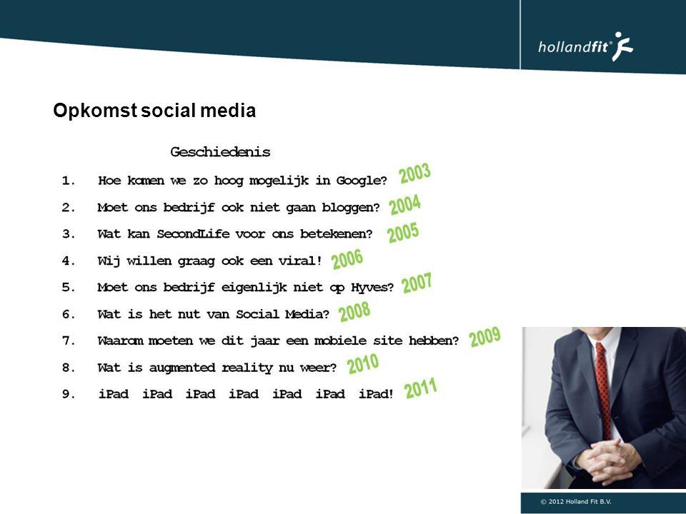 Opkomst social media