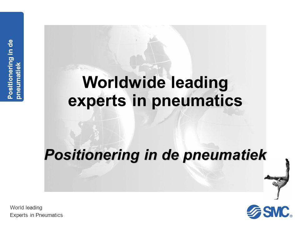 World leading Experts in Pneumatics Positioneren Principe Positionering in de pneumatiek Mechanisch positioneren : Cilinder met 3 posities type RZQ