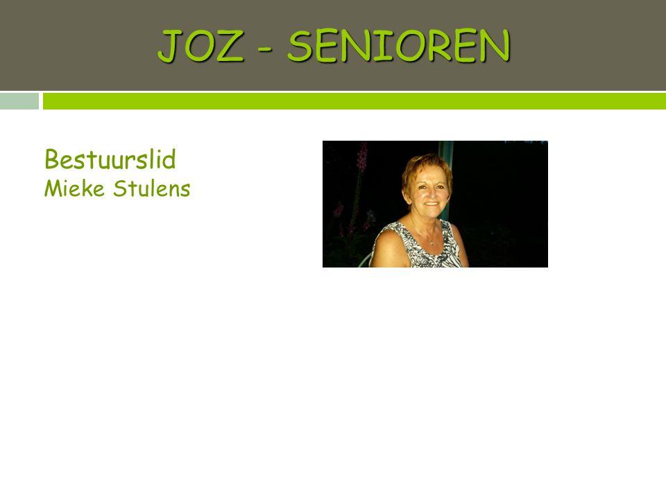 JOZ - SENIOREN Bestuurslid Mieke Stulens