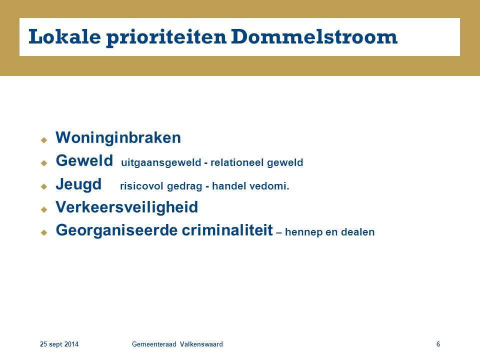 25 sept 2014Gemeenteraad Valkenswaard7 Georganiseerde criminaliteit
