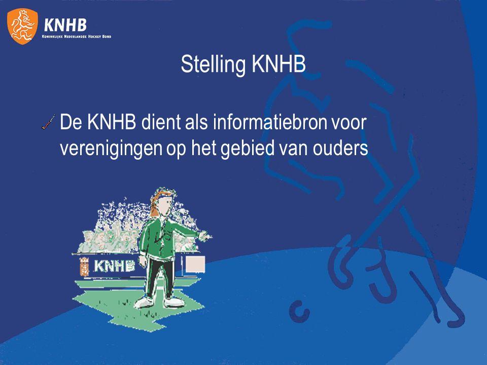 Stelling KNHB De KNHB dient als informatiebron voor verenigingen op het gebied van ouders