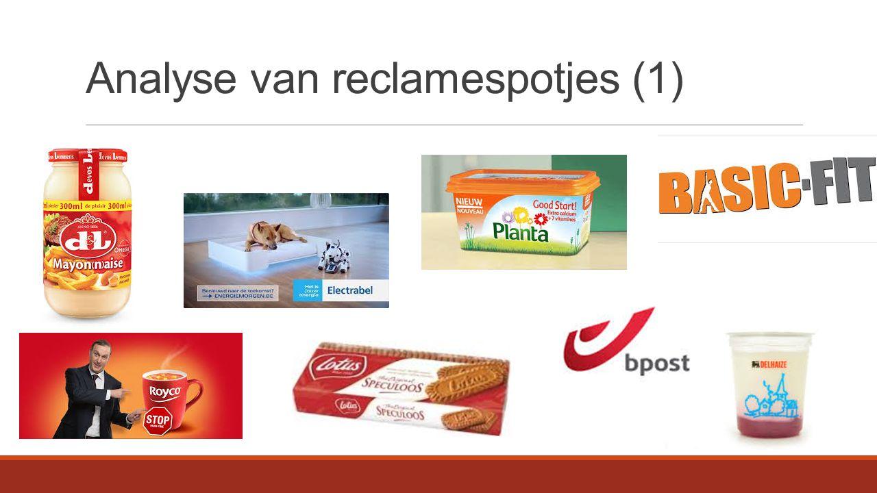 Analyse van reclamespotjes (2)  Talige gelijkenissen Geen verschil Behalve voor slogans  Culturele gelijkenissen Geen verschil  Doeltreffend.