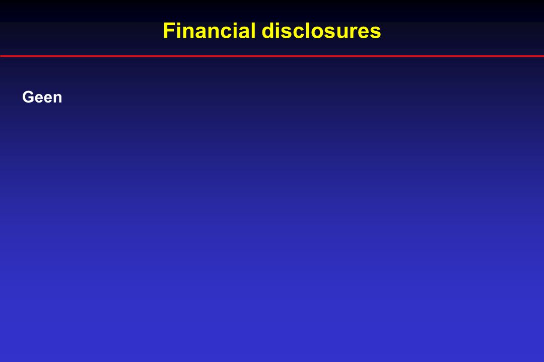 Geen Financial disclosures