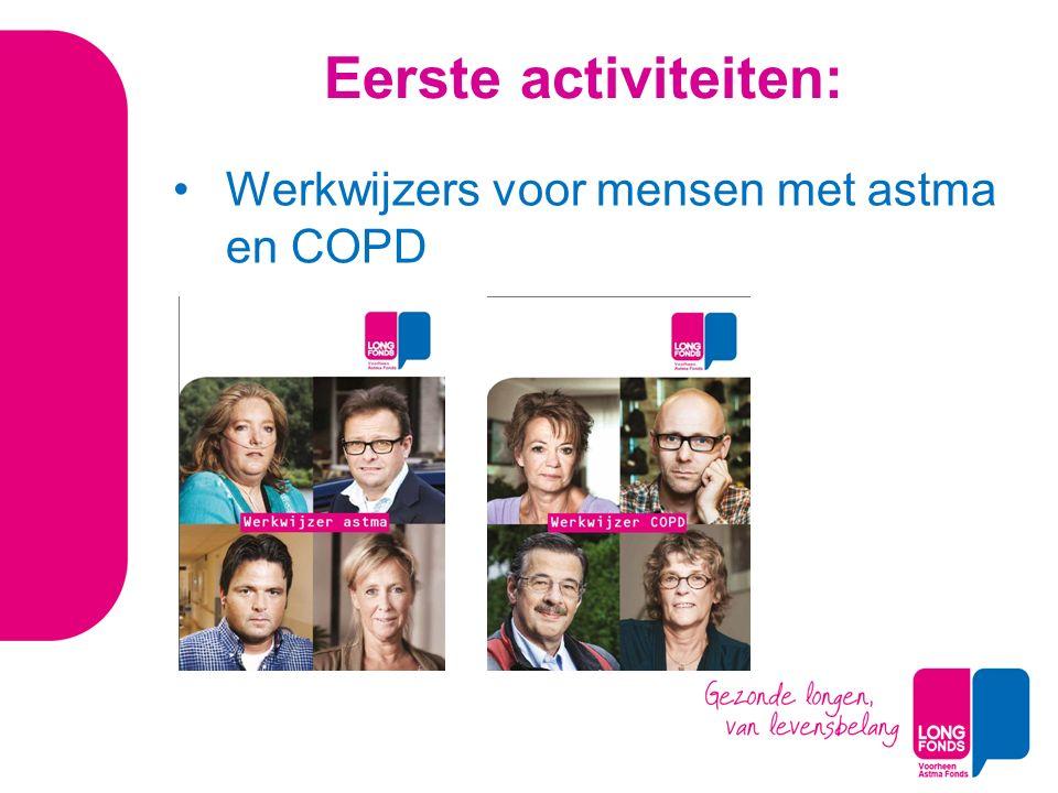 Eerste activiteiten: Werkwijzers voor mensen met astma en COPD