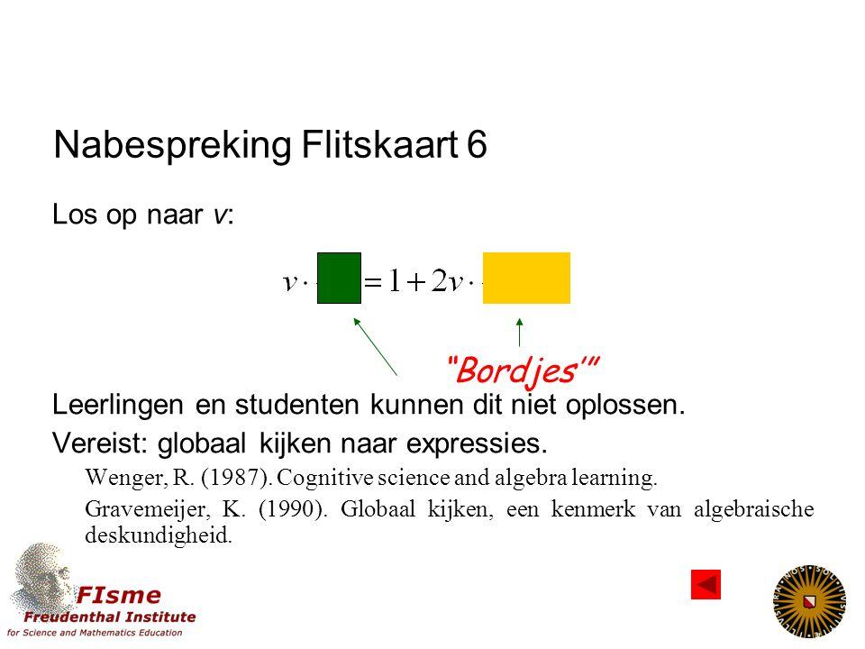 Nabespreking Flitskaart 5 Guin, D., & Trouche, L. (1999).