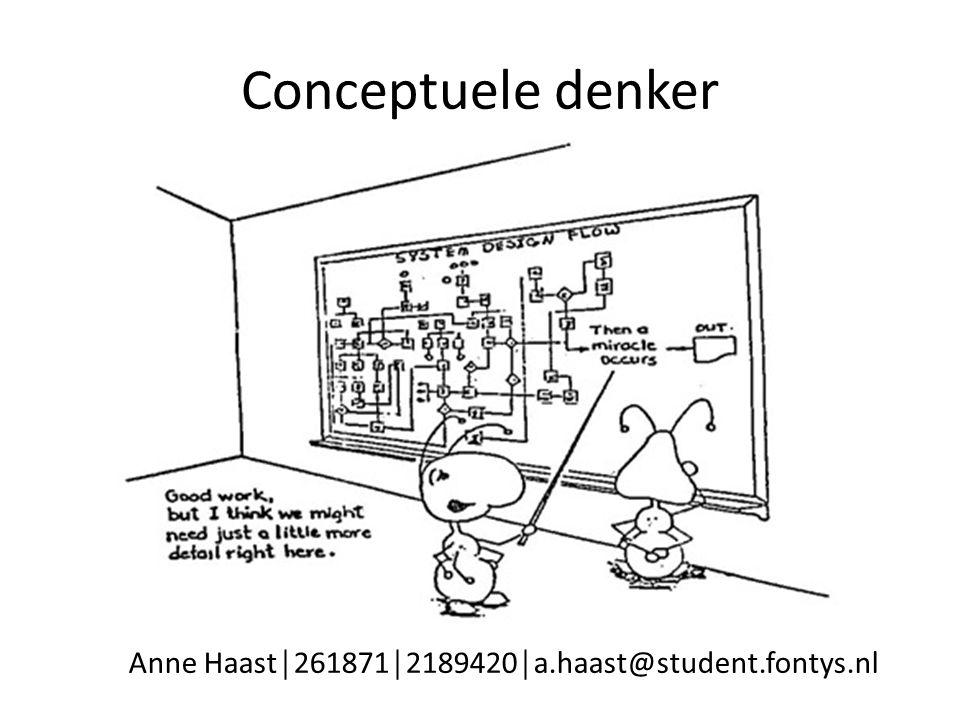 Conceptuele denker Anne Haast│261871│2189420│a.haast@student.fontys.nl