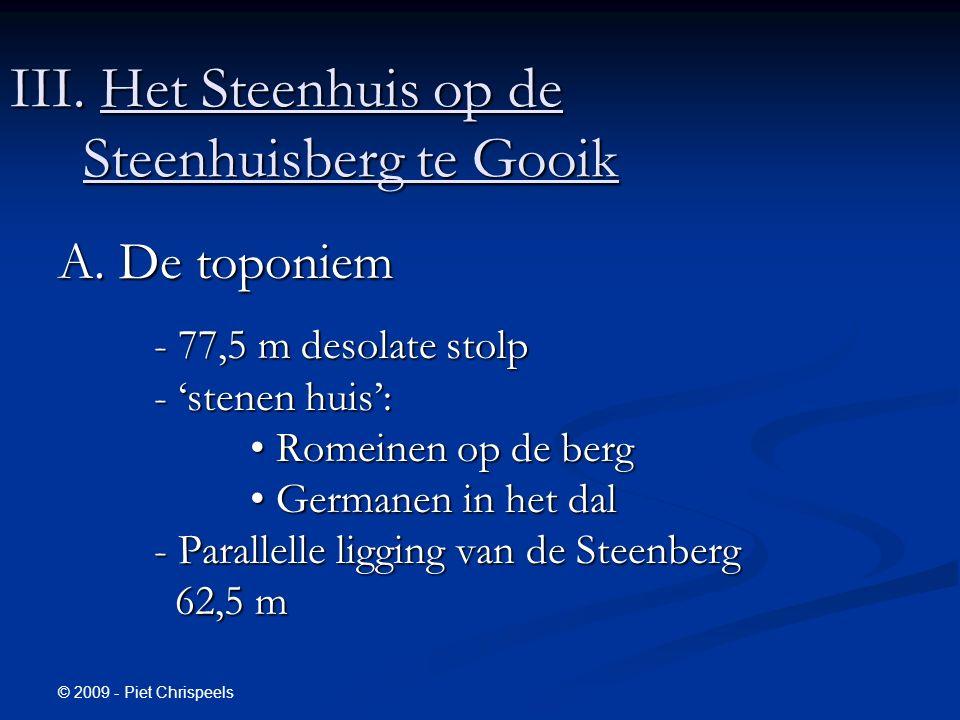 © 2009 - Piet Chrispeels III. Het Steenhuis op de Steenhuisberg te Gooik A.
