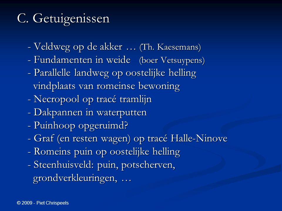 © 2009 - Piet Chrispeels C. Getuigenissen - Veldweg op de akker … (Th.