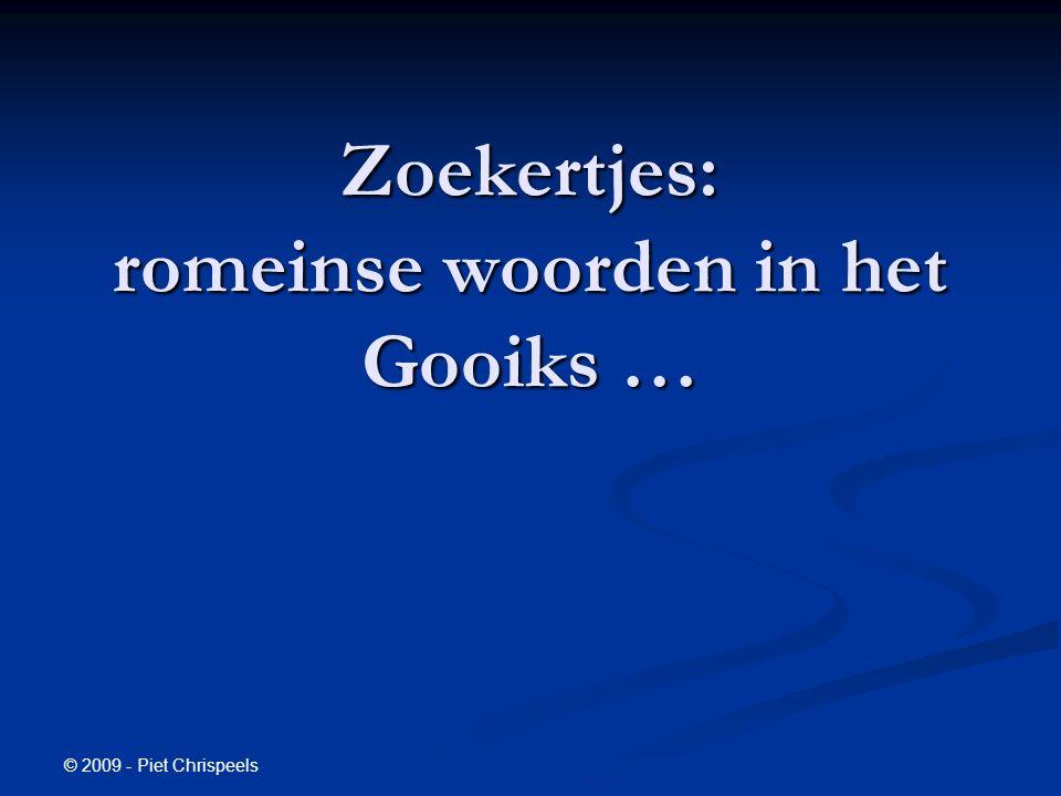 © 2009 - Piet Chrispeels Zoekertjes: romeinse woorden in het Gooiks …