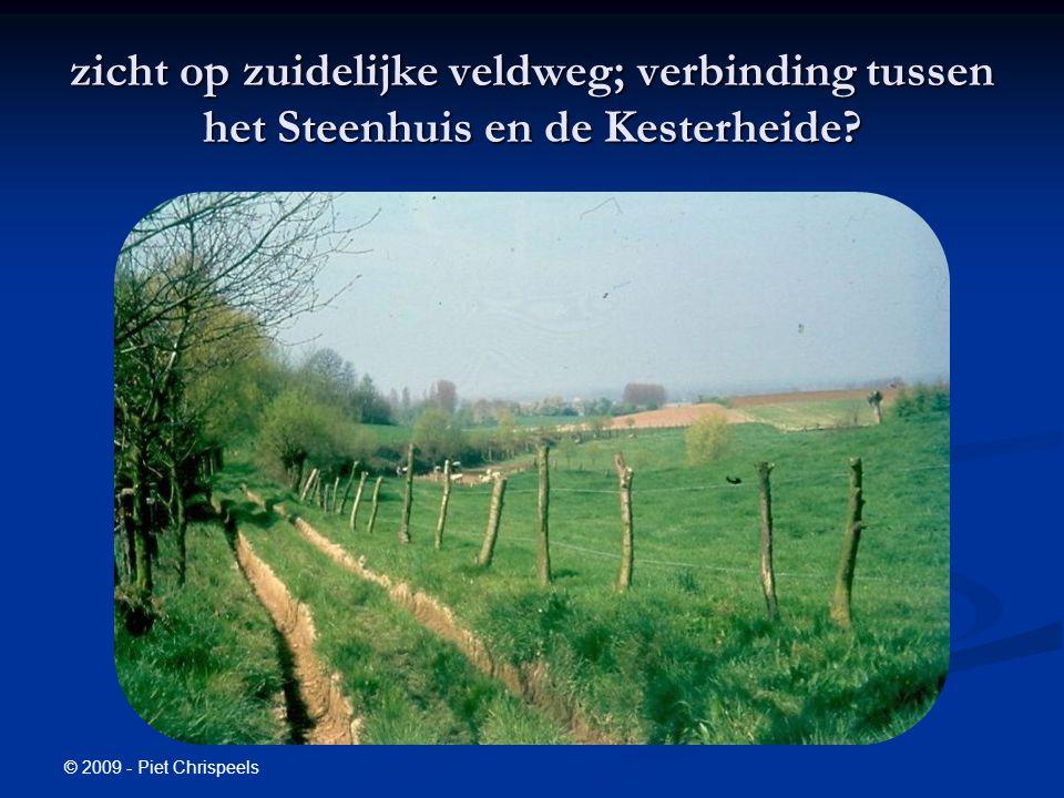 © 2009 - Piet Chrispeels zicht op zuidelijke veldweg; verbinding tussen het Steenhuis en de Kesterheide