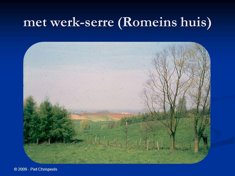 © 2009 - Piet Chrispeels met werk-serre (Romeins huis)