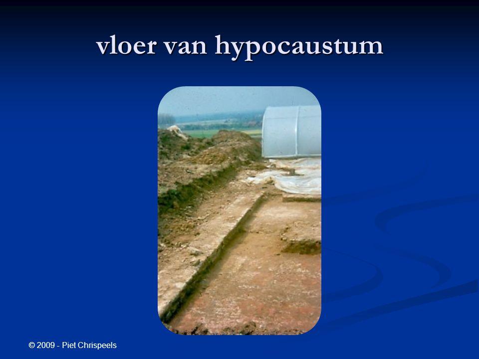 © 2009 - Piet Chrispeels vloer van hypocaustum