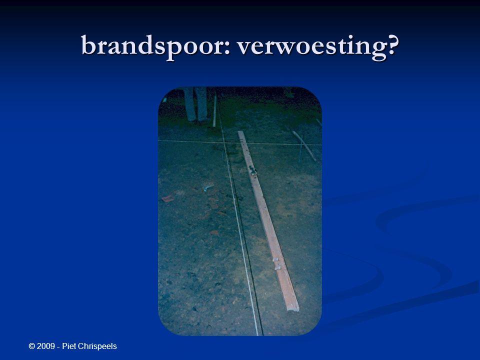 © 2009 - Piet Chrispeels brandspoor: verwoesting