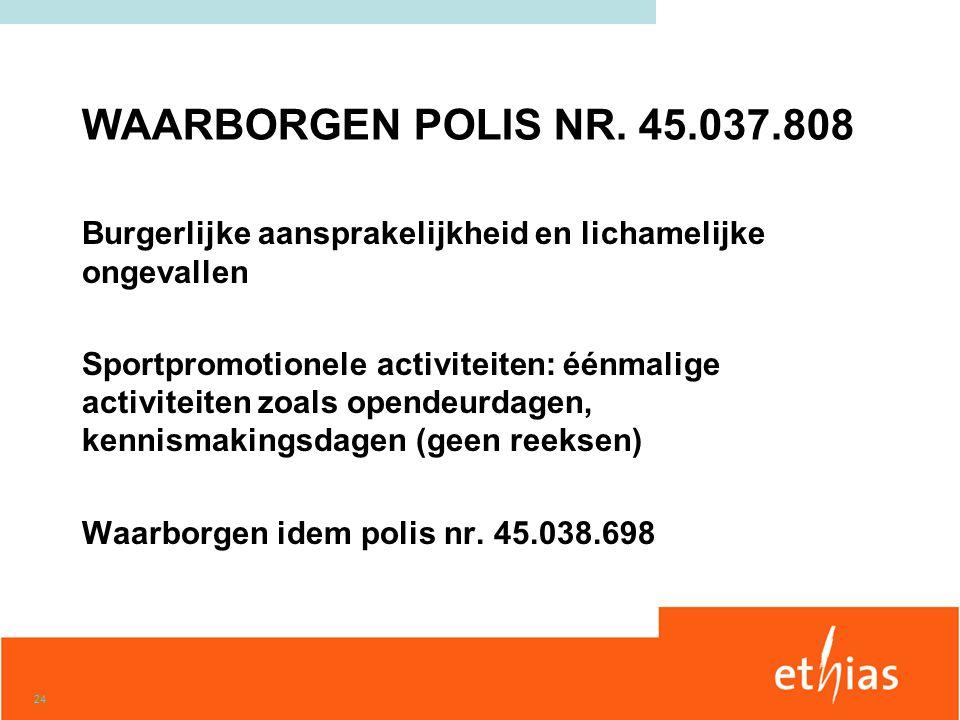 WAARBORGEN POLIS NR.