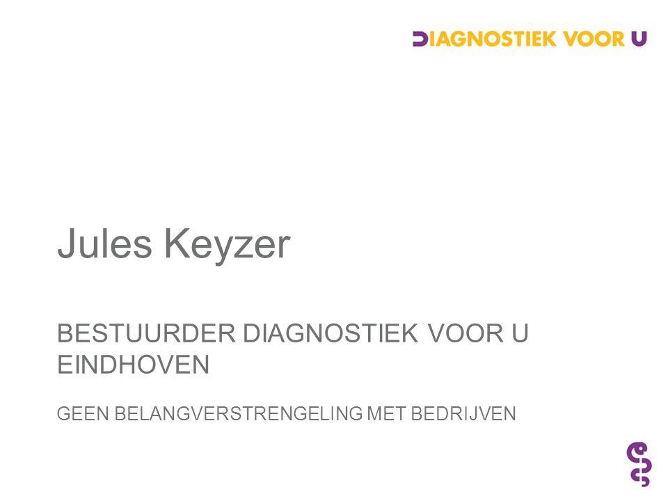 BESTUURDER DIAGNOSTIEK VOOR U EINDHOVEN GEEN BELANGVERSTRENGELING MET BEDRIJVEN Jules Keyzer