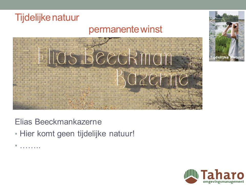 Tijdelijke natuur permanente winst Voordelen Tijdelijke natuur in de stad: ze kunnen een vorm van recreatie bieden, zoals struinen en boomhutten bouwen, die in de meeste (permanente) natuurgebieden niet is toegestaan; door de ligging, dicht bij de eigen woonomgeving, kunnen mensen meer verbonden raken met de natuur in hun omgeving en (ver) daarbuiten.