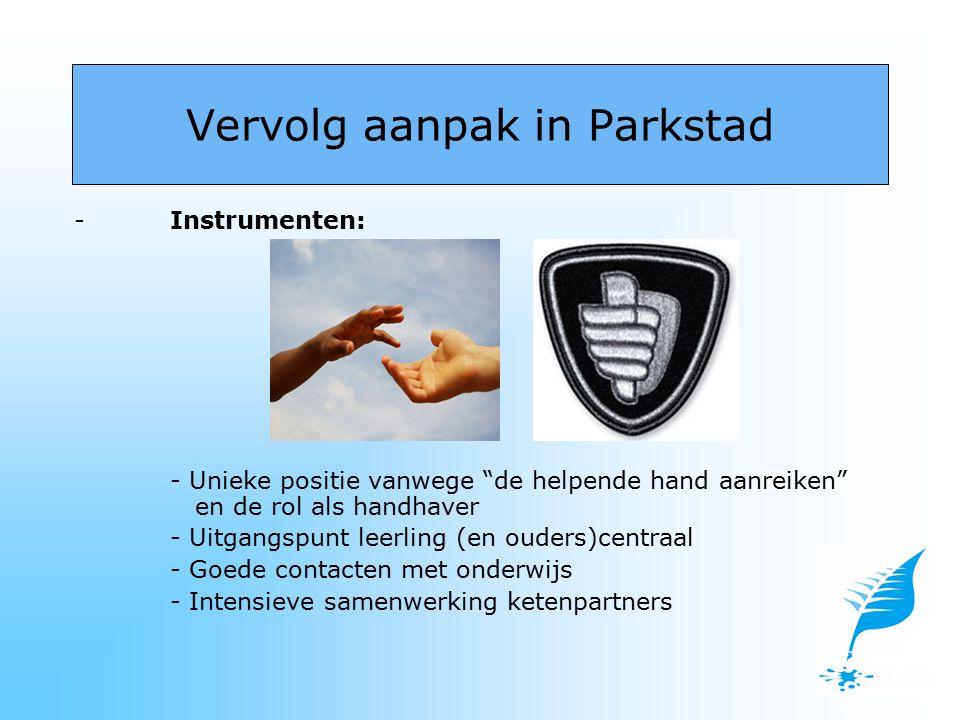 """-Instrumenten: - Unieke positie vanwege """"de helpende hand aanreiken"""" en de rol als handhaver - Uitgangspunt leerling (en ouders)centraal - Goede conta"""
