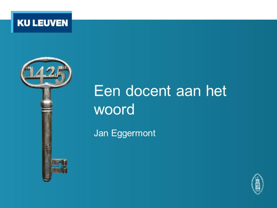 Een docent aan het woord Jan Eggermont