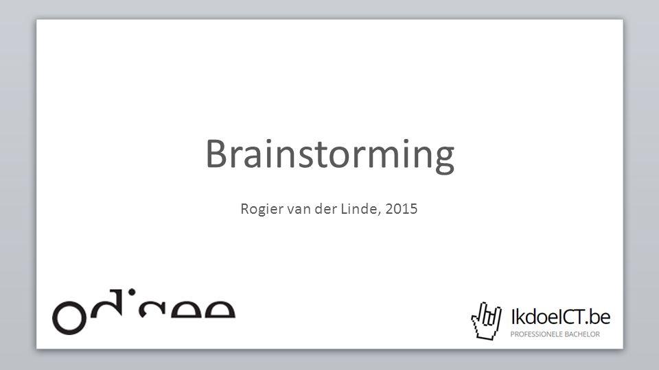 Brainstorming Rogier van der Linde, 2015