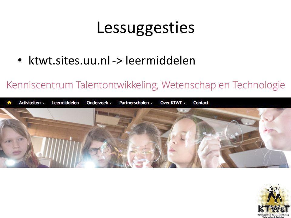 Lessuggesties ktwt.sites.uu.nl -> leermiddelen