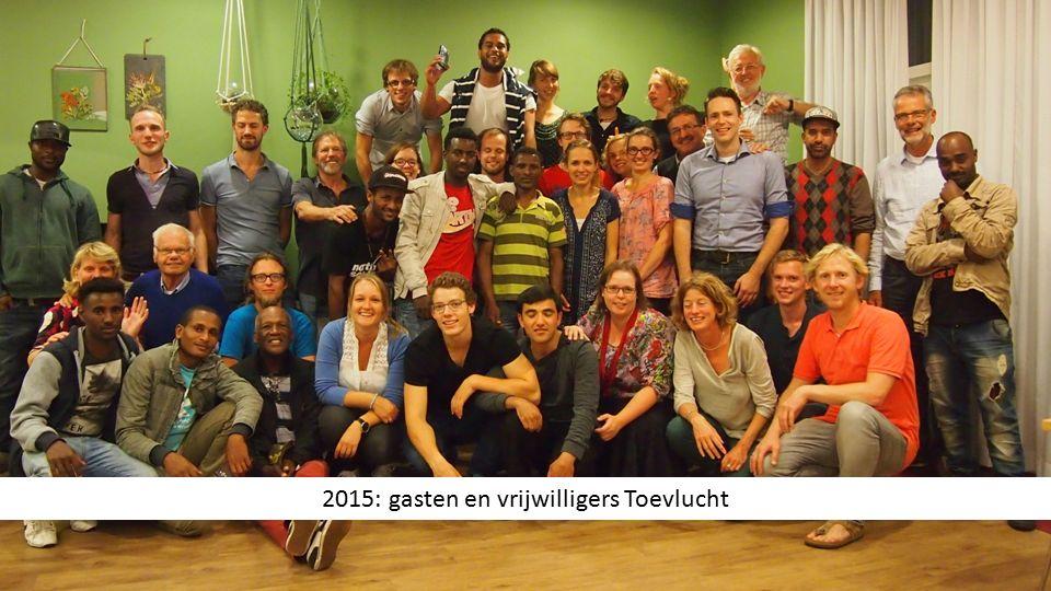 2015: gasten en vrijwilligers Toevlucht