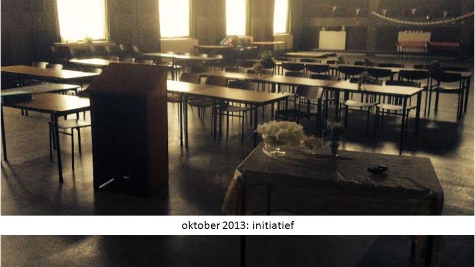 oktober 2013: initiatief