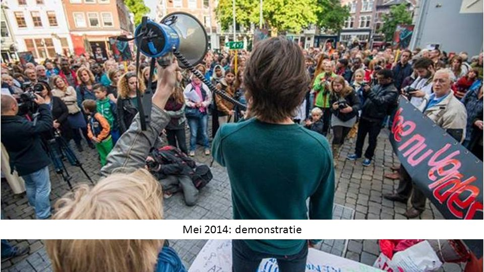 Mei 2014: demonstratie