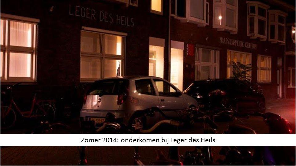 Zomer 2014: onderkomen bij Leger des Heils
