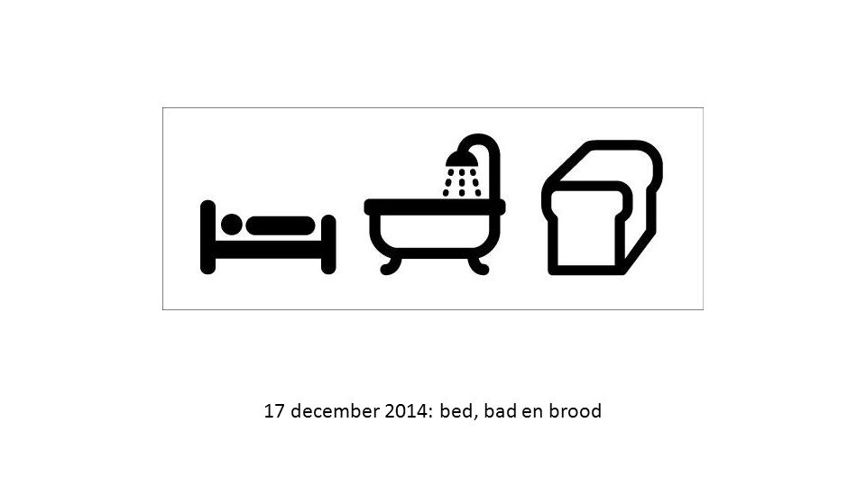 17 december 2014: bed, bad en brood