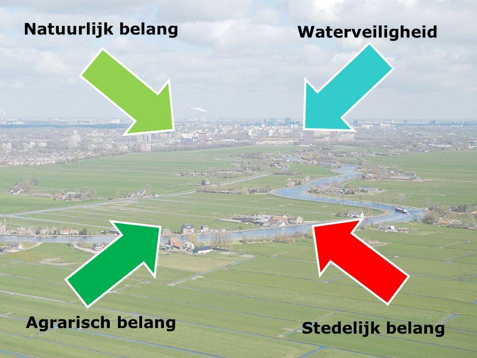 Stedelijk belang Natuurlijk belang Waterveiligheid Agrarisch belang