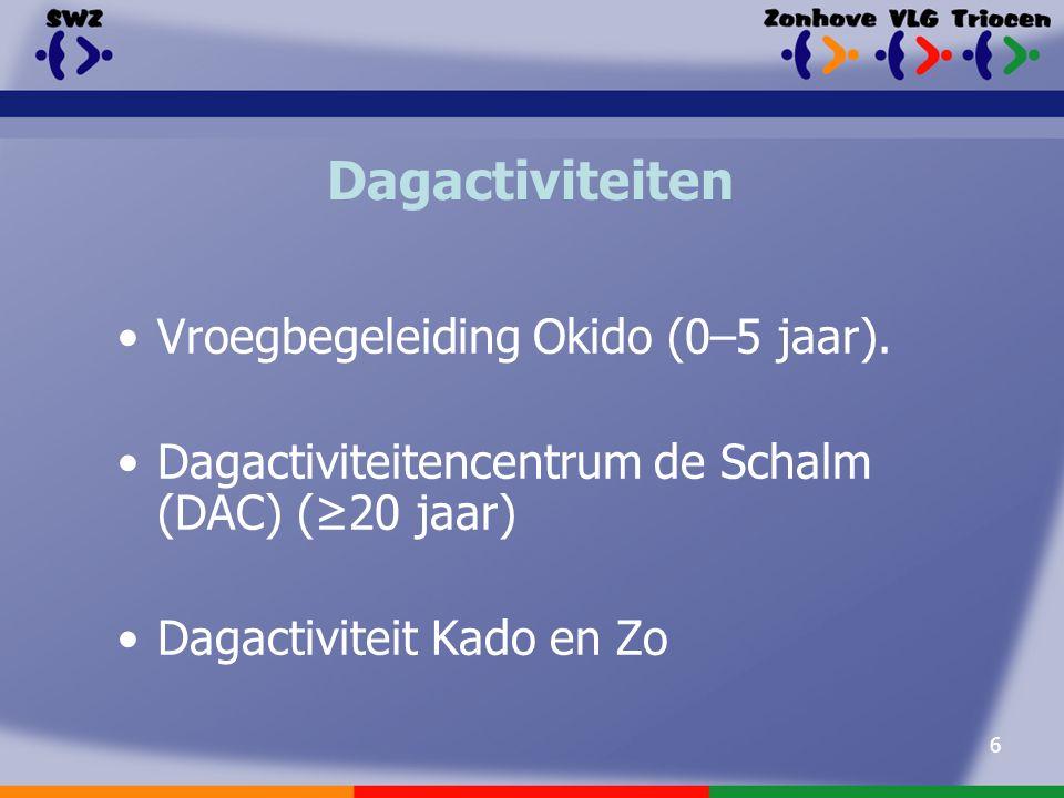 6 Dagactiviteiten Vroegbegeleiding Okido (0–5 jaar).