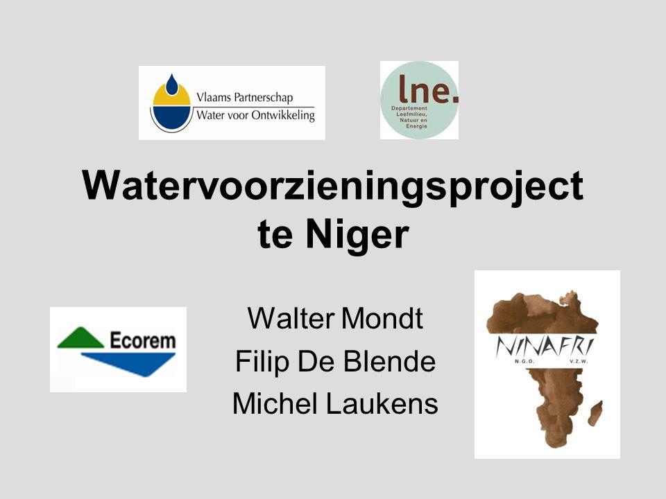 Watervoorzieningsproject te Niger Walter Mondt Filip De Blende Michel Laukens
