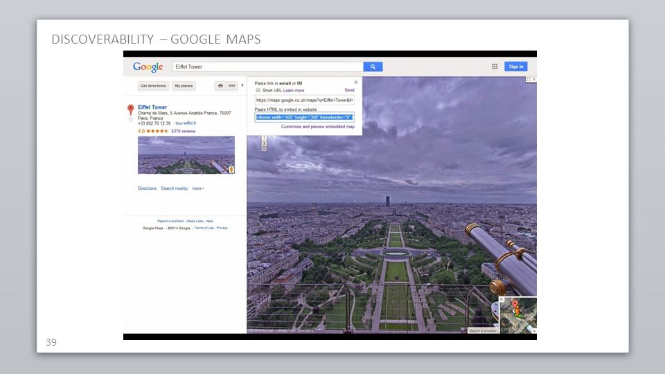 DISCOVERABILITY – GOOGLE MAPS 39
