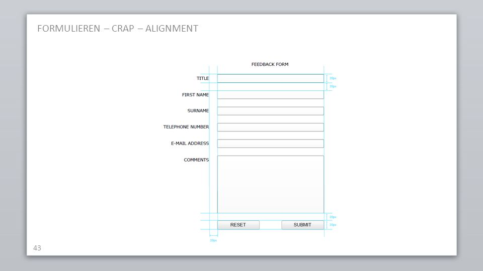 FORMULIEREN – CRAP – ALIGNMENT 43