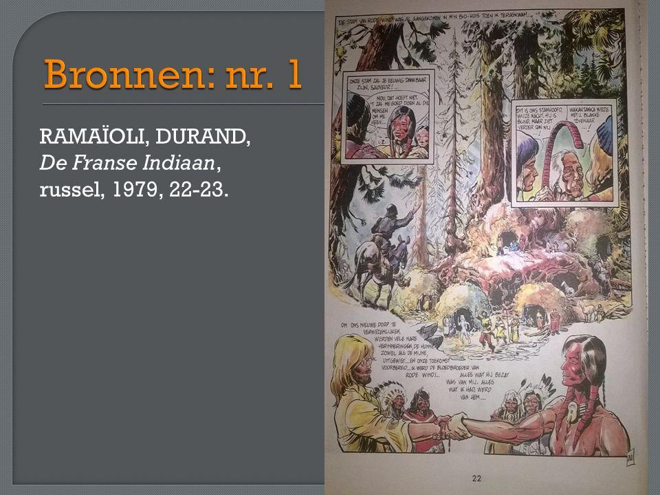 RAMAÏOLI, DURAND, De Franse Indiaan, russel, 1979, 22-23.
