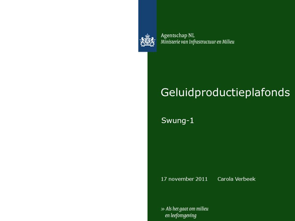 17 november 2011 Geluidproductieplafonds Swung-1 Carola Verbeek