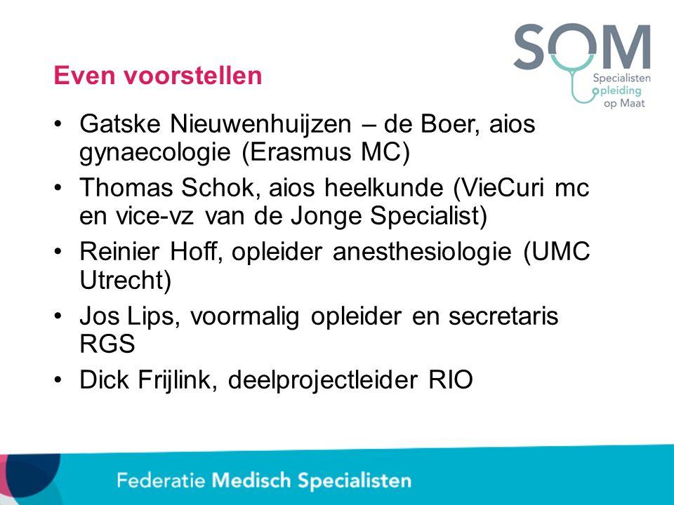 Even voorstellen Gatske Nieuwenhuijzen – de Boer, aios gynaecologie (Erasmus MC) Thomas Schok, aios heelkunde (VieCuri mc en vice-vz van de Jonge Spec