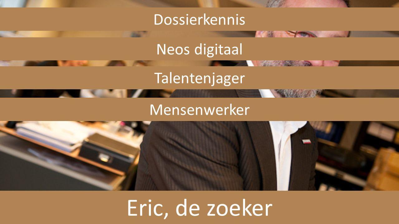 Eric, de zoeker Dossierkennis Neos digitaal Talentenjager Mensenwerker