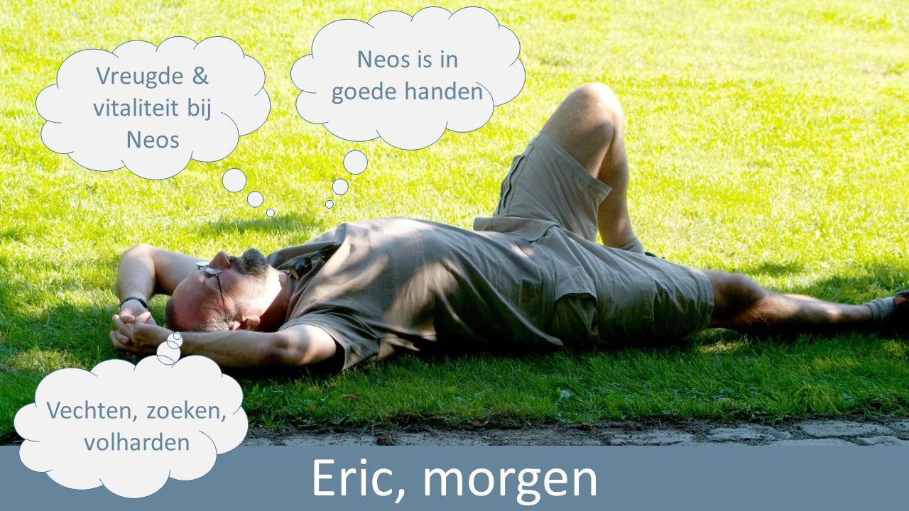 Eric, morgen Vreugde & vitaliteit bij Neos Neos is in goede handen Vechten, zoeken, volharden