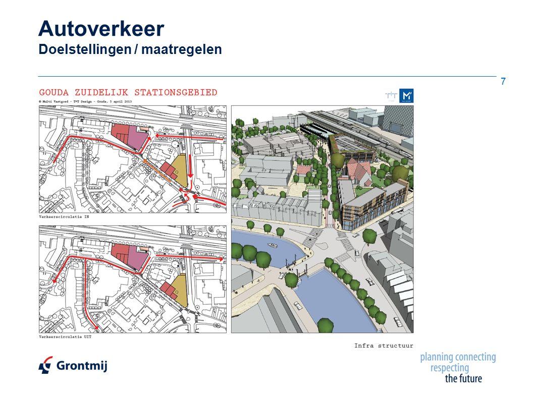 Expeditieverkeer Laden/lossen Blok B (ingaand)  Rijmanoeuvre fysiek inpasbaar  Middelgroot / klein voertuig hoeft niet achteruit te rijden op Noothoven van Goorstraat 28