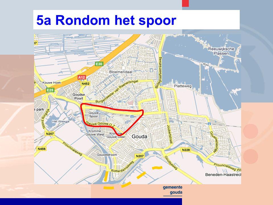 5a Rondom het spoor: Zuidelijk stationsgebied Belangrijkste veranderingen en consequenties parkeergarage met ontsluiting via B.