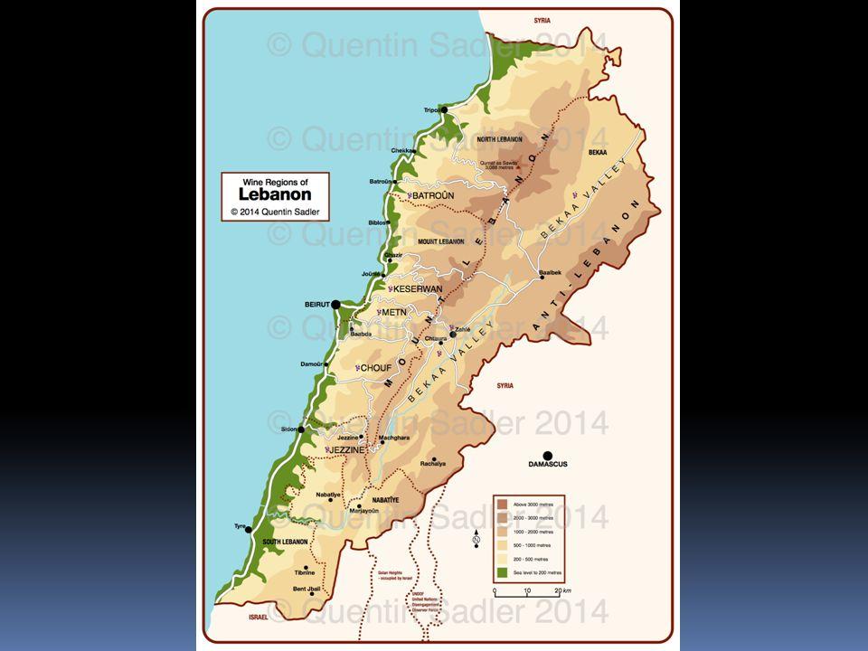 OUDE CULTUUR – JONG LAND Ethymologie Libanon Laban (Aramees)  Het Witte Gebergte Geschiedenis 1920: mandaatgebied van Frankrijk 1943: binnenlands verzet  opheffing mandaat en stichting van de republiek Symbool van Libanon = ceder (verwerkt in de nationale vlag