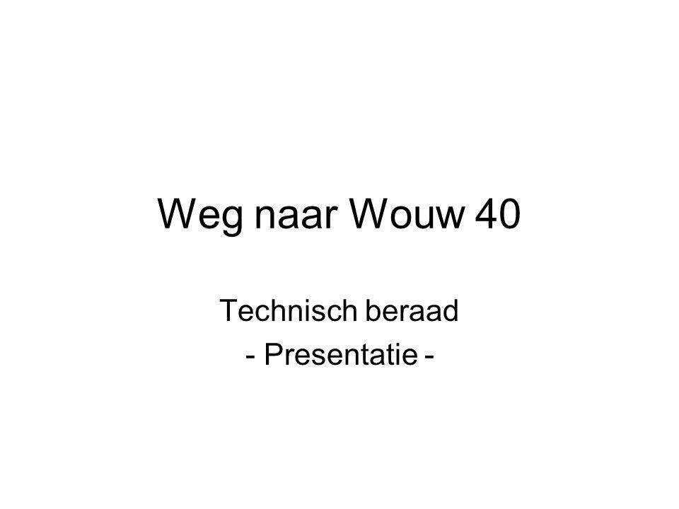 Weg naar Wouw 40 Technisch beraad - Presentatie -