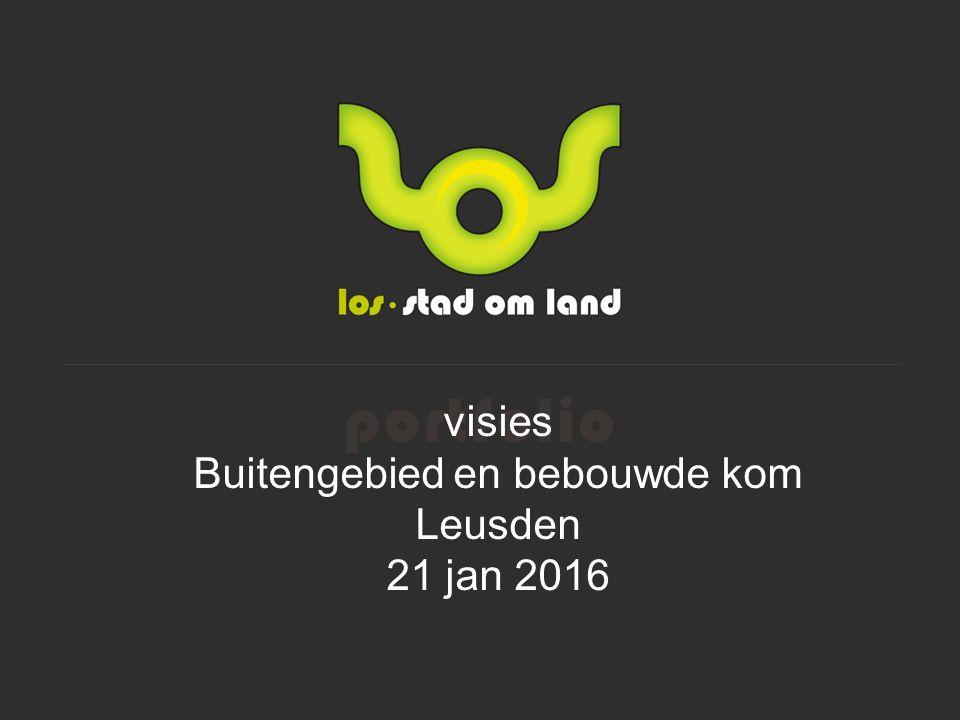 visies Buitengebied en bebouwde kom Leusden 21 jan 2016